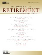 The Journal of Retirement: 5 (1)