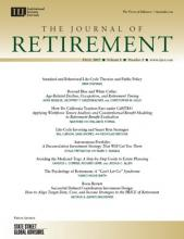 The Journal of Retirement: 5 (2)