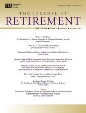The Journal of Retirement: 5 (3)