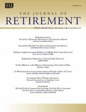 The Journal of Retirement: 5 (4)